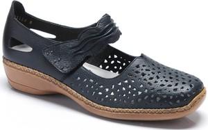 Sandały Rieker na rzepy w stylu casual na obcasie