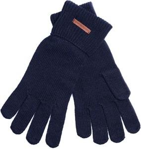 Granatowe rękawiczki Tommy Hilfiger