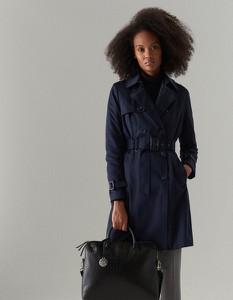 Granatowy płaszcz Mohito w stylu casual