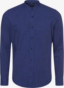 Niebieska koszula Nils Sundström z bawełny