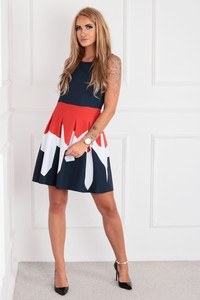 Sukienka Ptakmoda.com mini rozkloszowana bez rękawów