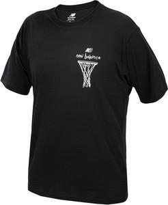 Czarny t-shirt New Balance z nadrukiem