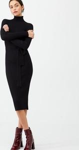 Sukienka V by Very z golfem z długim rękawem midi