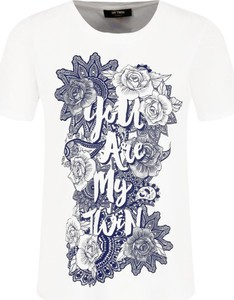 T-shirt Mytwin Twinset z okrągłym dekoltem z krótkim rękawem