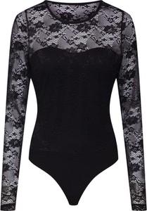 Czarna bluzka Vero Moda z okrągłym dekoltem z długim rękawem