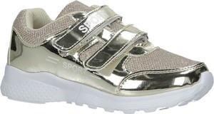 Złote buty sportowe dziecięce Casu na rzepy