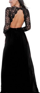 Elegrina maxi sukienka imprezowa nayara czarna