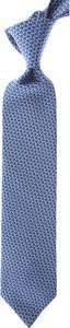 Niebieski krawat Lanvin
