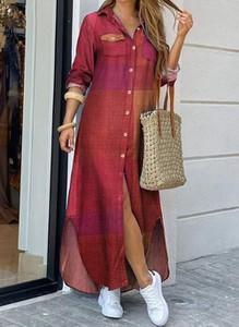 Sukienka Cikelly w stylu casual koszulowa maxi