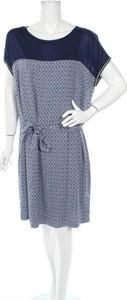 Niebieska sukienka Terre De Fees mini rozkloszowana w stylu casual