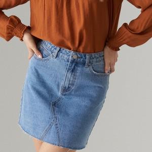 Niebieska spódnica Mohito w street stylu z jeansu