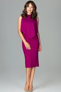 Fioletowa sukienka LENITIF midi