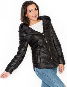 Czarna kurtka LENITIF krótka w stylu casual