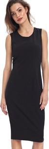 Czarna sukienka Colett ołówkowa z okrągłym dekoltem