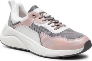 Buty sportowe KEDDO ze skóry ekologicznej sznurowane