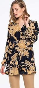 Tunika POTIS & VERSO z tkaniny z długim rękawem