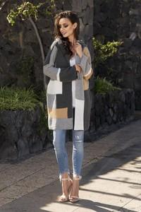 Sweter Lemoniade w stylu casual w geometryczne wzory