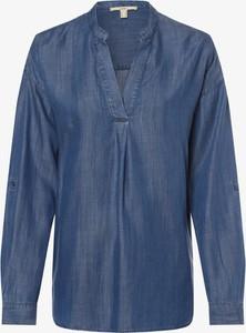 Niebieska bluzka Esprit z dekoltem w kształcie litery v