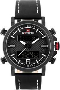 ZEGAREK MĘSKI NAVIFORCE - NF9135 (zn076a) - black/white + box - Czarny
