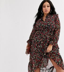 Sukienka Missguided Plus z długim rękawem