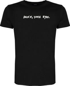 Czarny t-shirt ubierzsie.com z bawełny