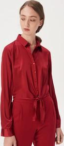 Czerwona koszula Sinsay z długim rękawem