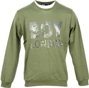 Zielona bluza BOY LONDON w młodzieżowym stylu z bawełny