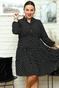 Sukienka KARKO z dekoltem w kształcie litery v z tkaniny dla puszystych