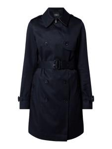 Granatowy płaszcz Esprit w stylu casual z bawełny