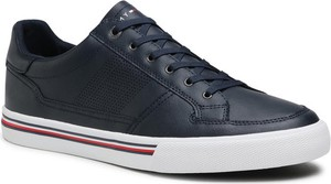 Tommy Hilfiger Sneakersy Core Corporate Leather Sneaker FM0FM03393 Granatowy