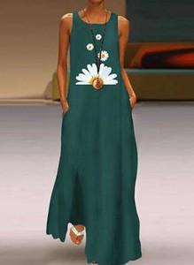 Sukienka Sandbella maxi bez rękawów