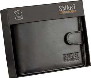Czarny portfel męski Koruma