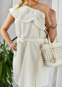 Sukienka Fason z krótkim rękawem z bawełny mini