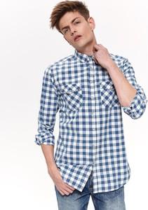 Niebieska koszula Top Secret w stylu casual