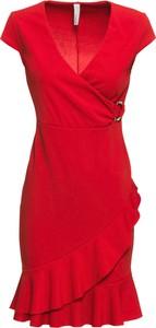 Sukienka bonprix BODYFLIRT boutique z dekoltem w kształcie litery v