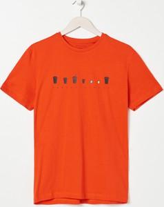 T-shirt Sinsay z bawełny z krótkim rękawem