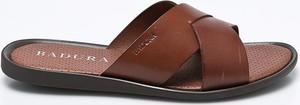 Brązowe buty letnie męskie Badura