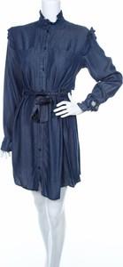 Niebieska sukienka R Jeans mini w stylu casual