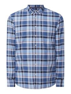 Koszula Montego w stylu casual z kołnierzykiem button down z tkaniny