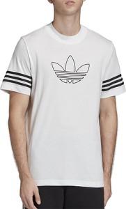 T-shirt Adidas z nadrukiem z bawełny