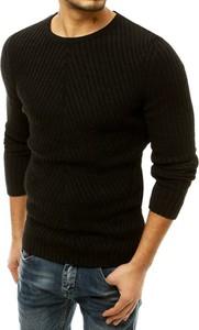 Czarny sweter Dstreet w stylu casual z bawełny