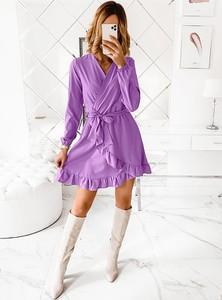 Sukienka Pakuten mini z dekoltem w kształcie litery v
