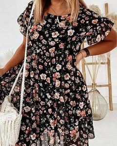 Sukienka Kendallme z długim rękawem z dekoltem w kształcie litery v mini