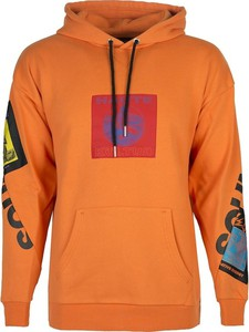 Pomarańczowa bluza Diesel z bawełny w młodzieżowym stylu
