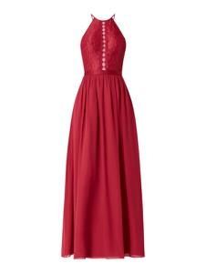 Sukienka Luxuar z szyfonu maxi z dekoltem w kształcie litery v
