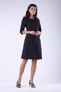 Granatowa sukienka Nommo oversize z długim rękawem