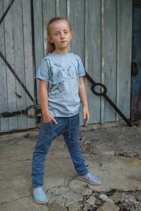 Koszulka dziecięca M-art-a-baby z krótkim rękawem z bawełny