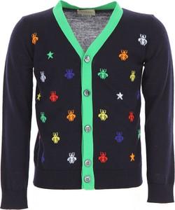 Granatowy sweter Gucci