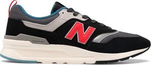 Czarne buty sportowe New Balance w sportowym stylu z zamszu