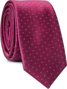 Bordowy krawat giacomo conti